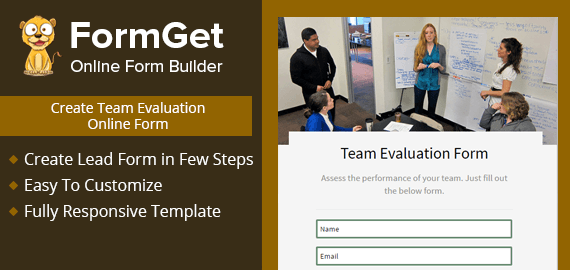 Team Evaluation Form Slider