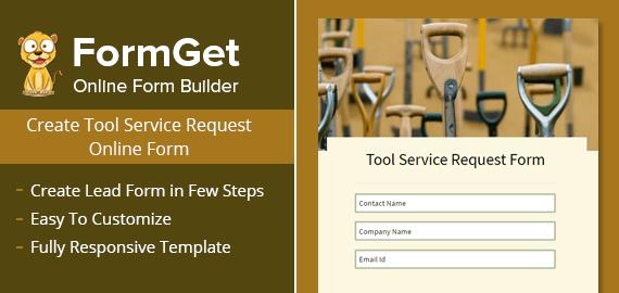 Tool Service Request Form Slider