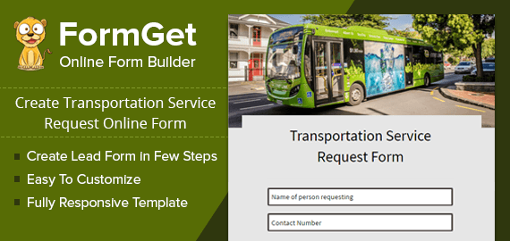 Transportation Service Request Form Slider