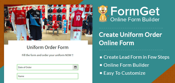 Create Uniform Order Form For Clothing Stores