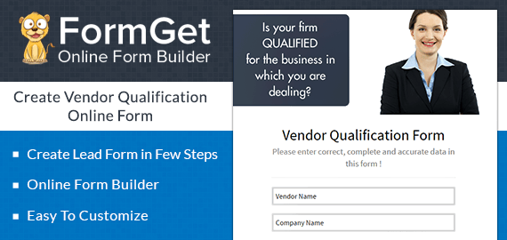 Vendor Qualification Form Slider