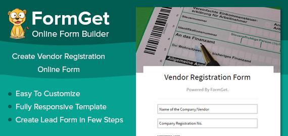 Vendor Registration Form Slider