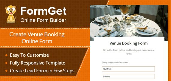 Venue Booking Form Slider