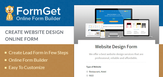 Website Design Request Form For Website Developers | FormGet