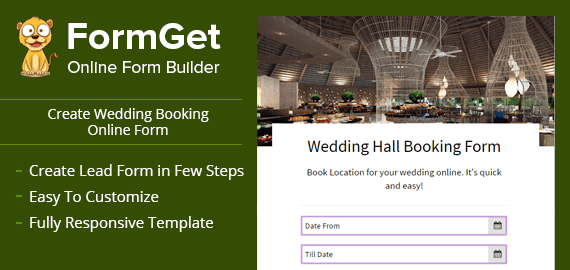 Wedding Booking Form Slider