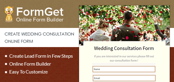 Wedding Consultation Form Slider