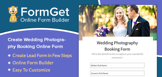 Wedding Photography Booking Form Slider