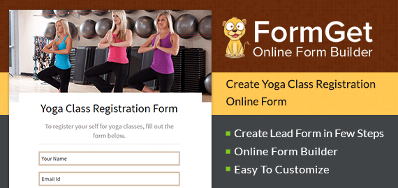 Yoga Class Registration Form Slider