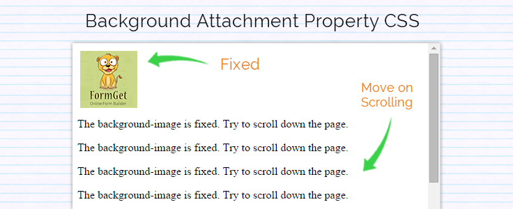 background attachment css
