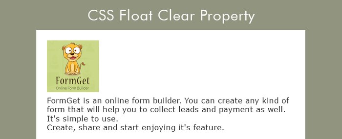 css-clear-float-property