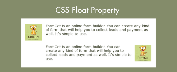 Float Property CSS – Left and Right