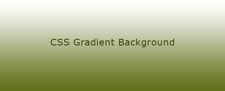 CSS:  Background Gradient