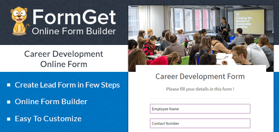 Create Career Development Form For Training & Placement Centres