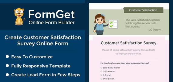 Create Customer Satisfaction Survey Form For Online Enterprises