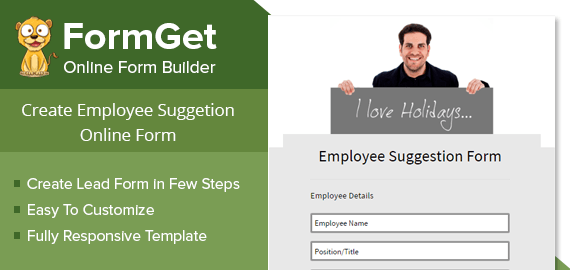 Employee Suggestion Form Slider