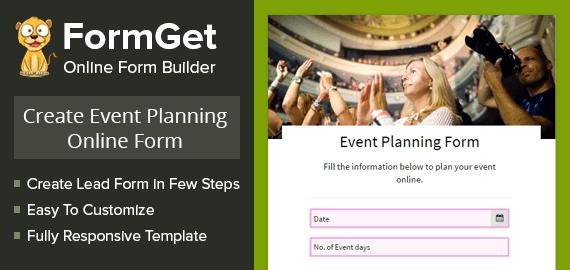 Event Planning Form Slider