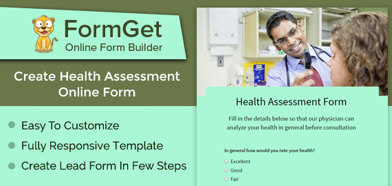 Create Health Assessment Form For Doctors & Hospitals