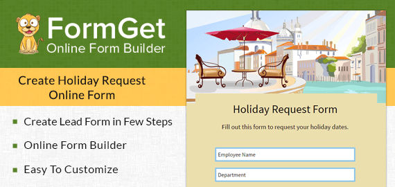 Create Holiday Request Form For Private Sector Companies & Offices