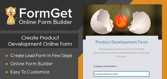 Product Development Form Slider