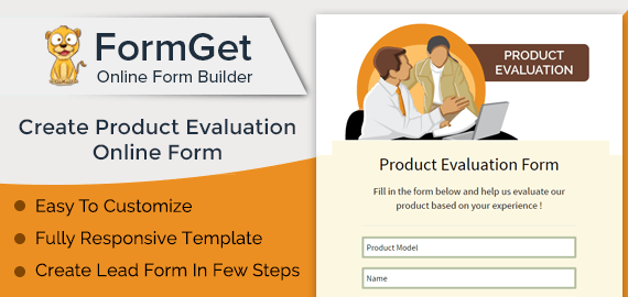 Product Evaluation Form Slider