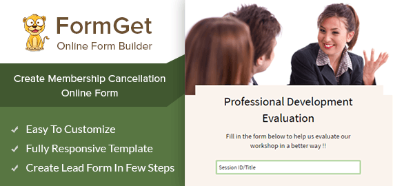 Professional Development Evaluation Form Slider