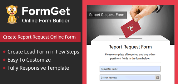 Report Request Form Slider