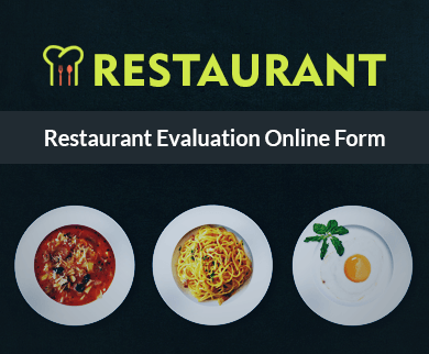 FormGet – Create Restaurant Evaluation Form For Restaurant Owners & Hoteliers
