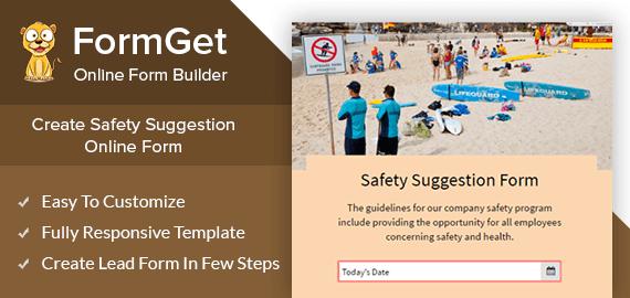 Safety Suggestion Form Slider