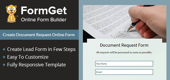 Create Document Request Form For Offices & Companies