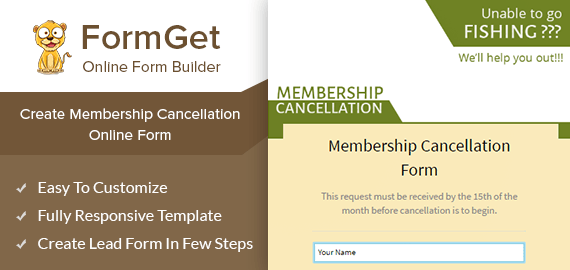 Create Membership Cancellation Form For Your Existing Users