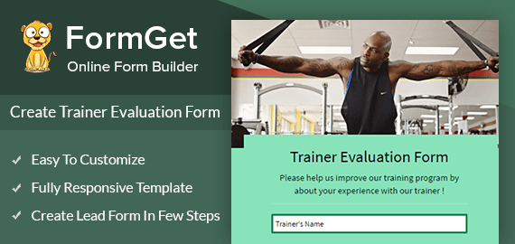 Create Trainer Evaluation Form For Gyms & Training Institutes