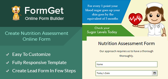 Nutrition Assessment Form For Dietary E Portals Formget