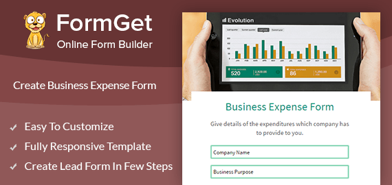 Create Business Expense Form For Finance Departments