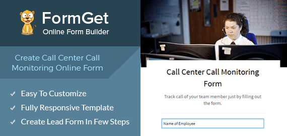 Create Call Center Call Monitoring Form For Call Centres, BPO's & Voice Support Agencies