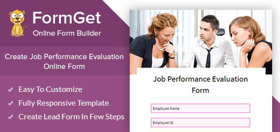 Create Job Performance Evaluation Form For Companies, Offices & Organizations