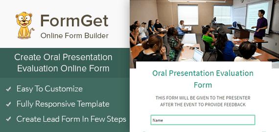 Create Oral Presentation Evaluation Form For Seminars & English Spoken Institutes