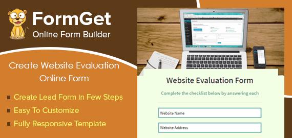 Website-Evaluaton-form