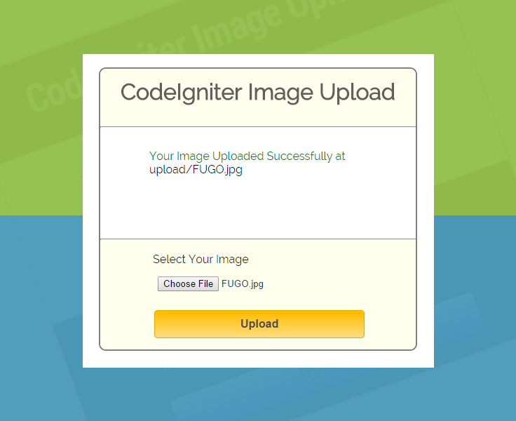 Codeigniter Image And File Upload