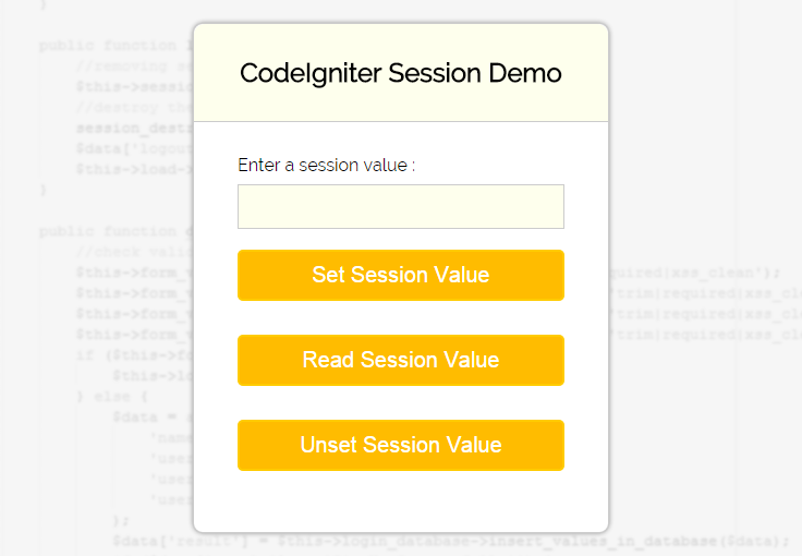 codeIgniter-session