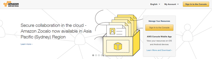 aws-amazon-homepage