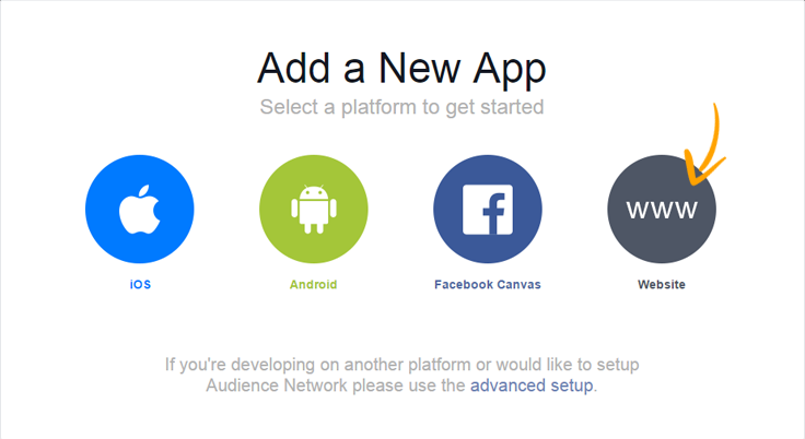 Facebook website app
