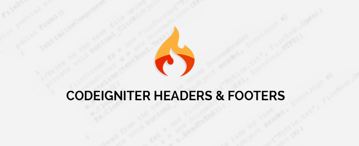 CodeIgniter Template : Adding Header, Footer and Dynamic Content