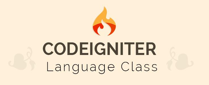 CodeIgniter: Language Class