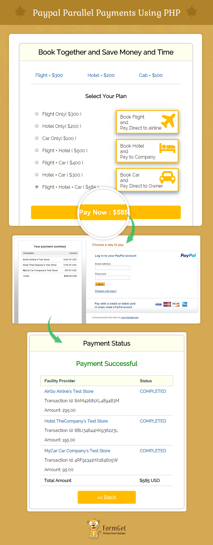 paypal-parallel payments-using php