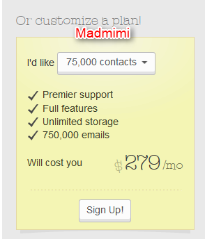 Madmimi Pricing
