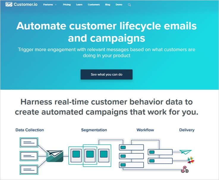 Customer.io - Best Email Marketing Services