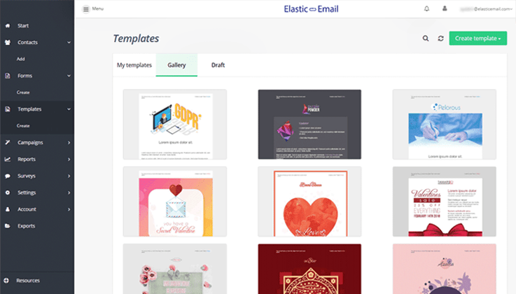 Elastic Email Templates - Best Email Marketing Services