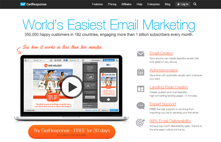 GetResponse - Cheap Email Marketing