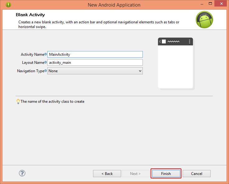 Define Blank Activity
