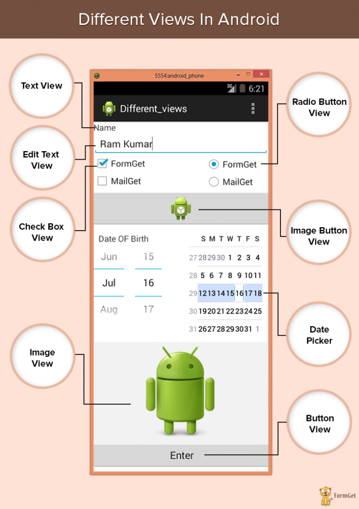 different views in android